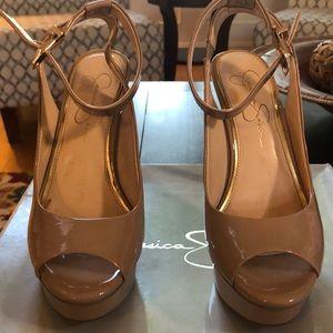 Jessica Simpson Careen Style Nude Color Heels